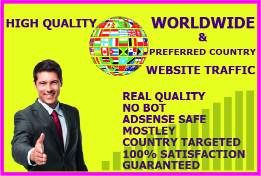 I will drive 10,000+ Worldwide & Preferred country Target Web Traffic