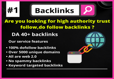 High authority web 2.0 backlinks with 5000+ unique domains