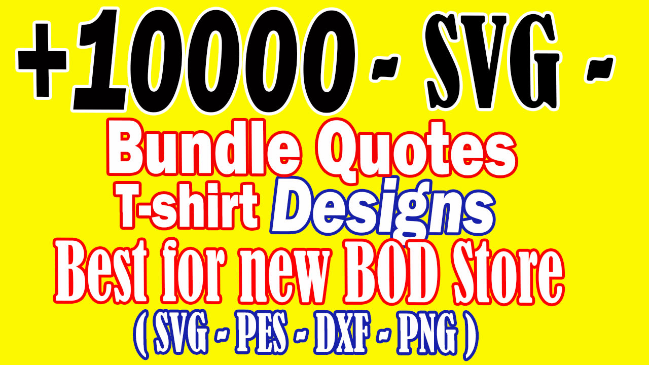 I will send 10k SVG quotes and motivation for your POD business