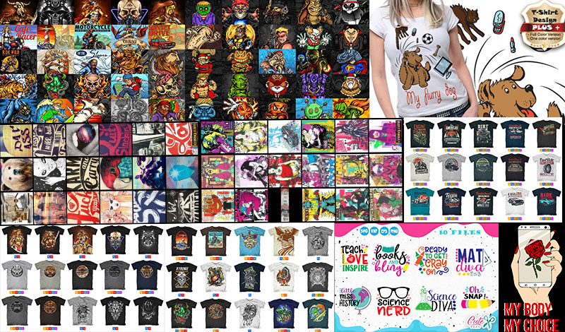 i will deliver 55k editable t shirt design for all pod platform such as merch by amazon etc