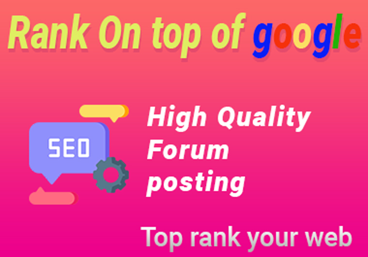 Forum posting assistance, High-authority Manually Backlinks