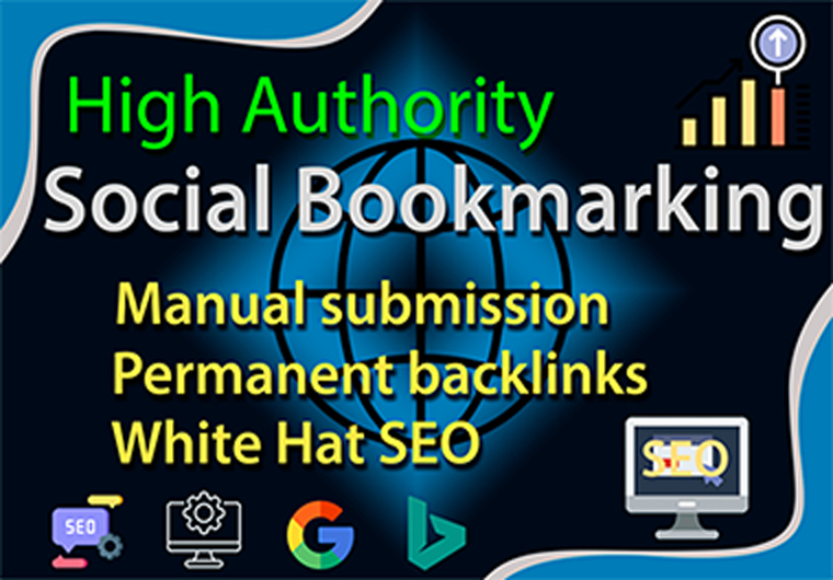 Social Bookmarking assistance,  High-authority Manually Backlinks