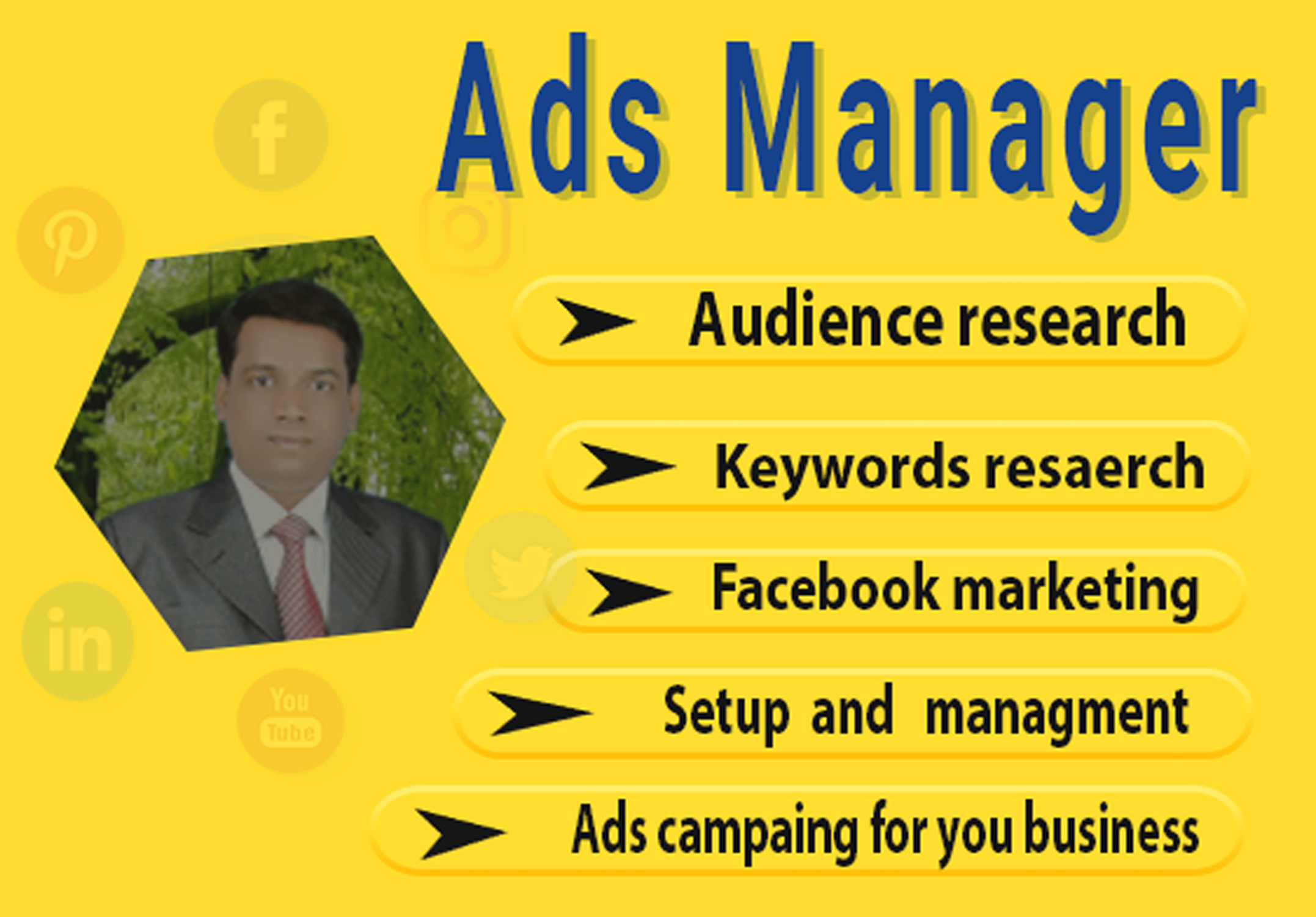 Facebook ads manager and campaign management