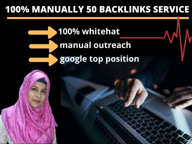 I will do 50 manually high authority profile backlinks for google ranking