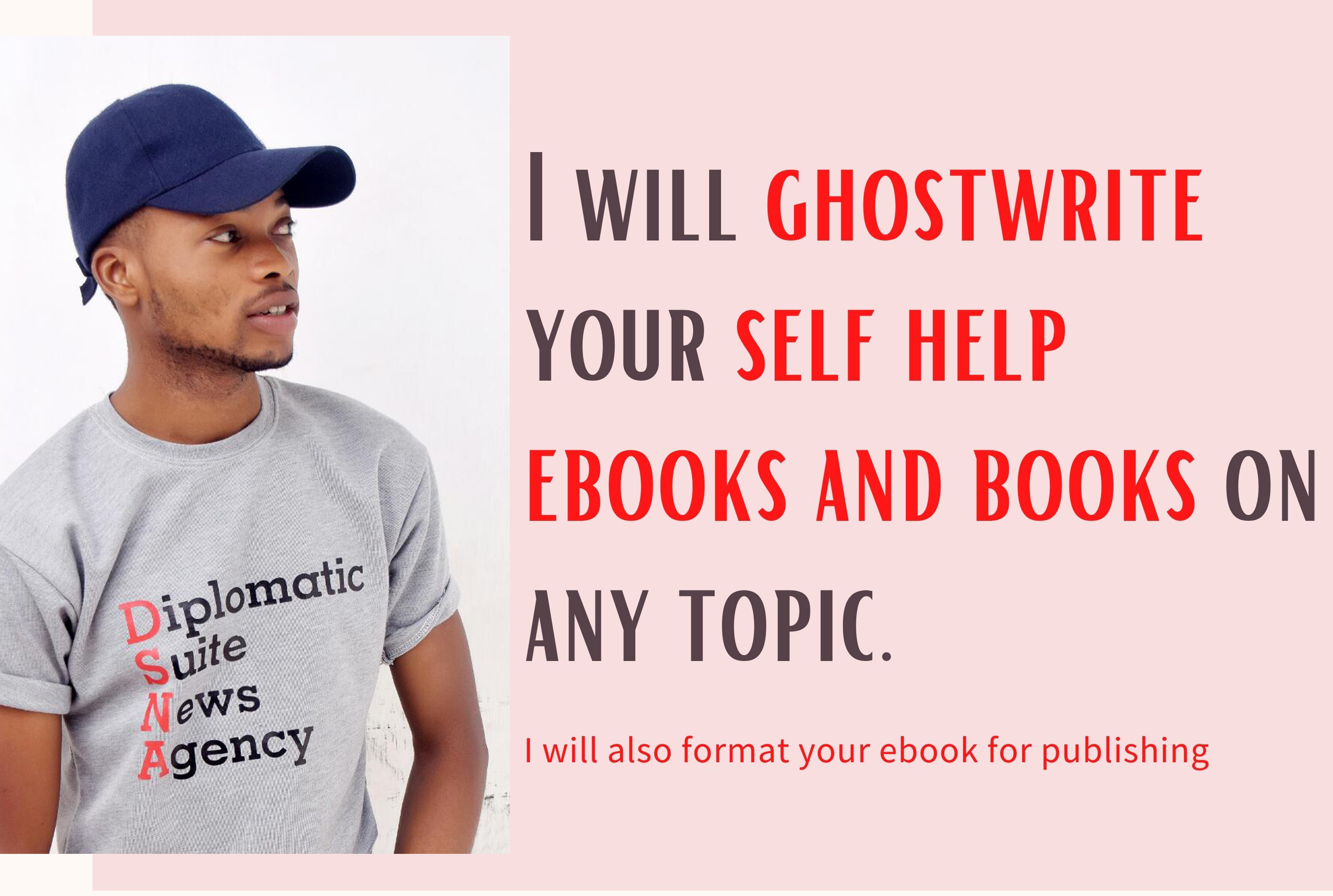 I will ghostwrite your books and do ebook writing