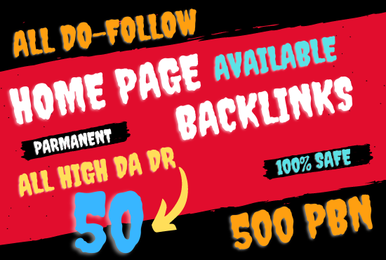 I will provide 100 home page permanent do follow links