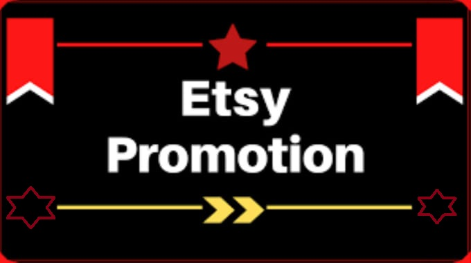 Etsy Shop Main Profile Promotion Store Full Package Within 24 Hours