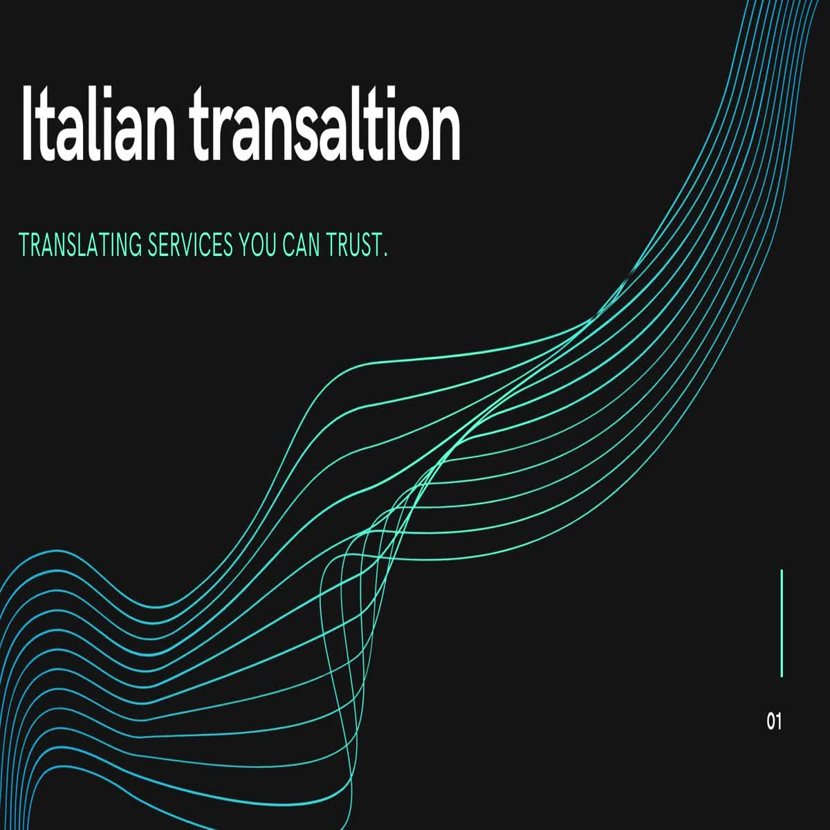 Italian document translation (500 world)