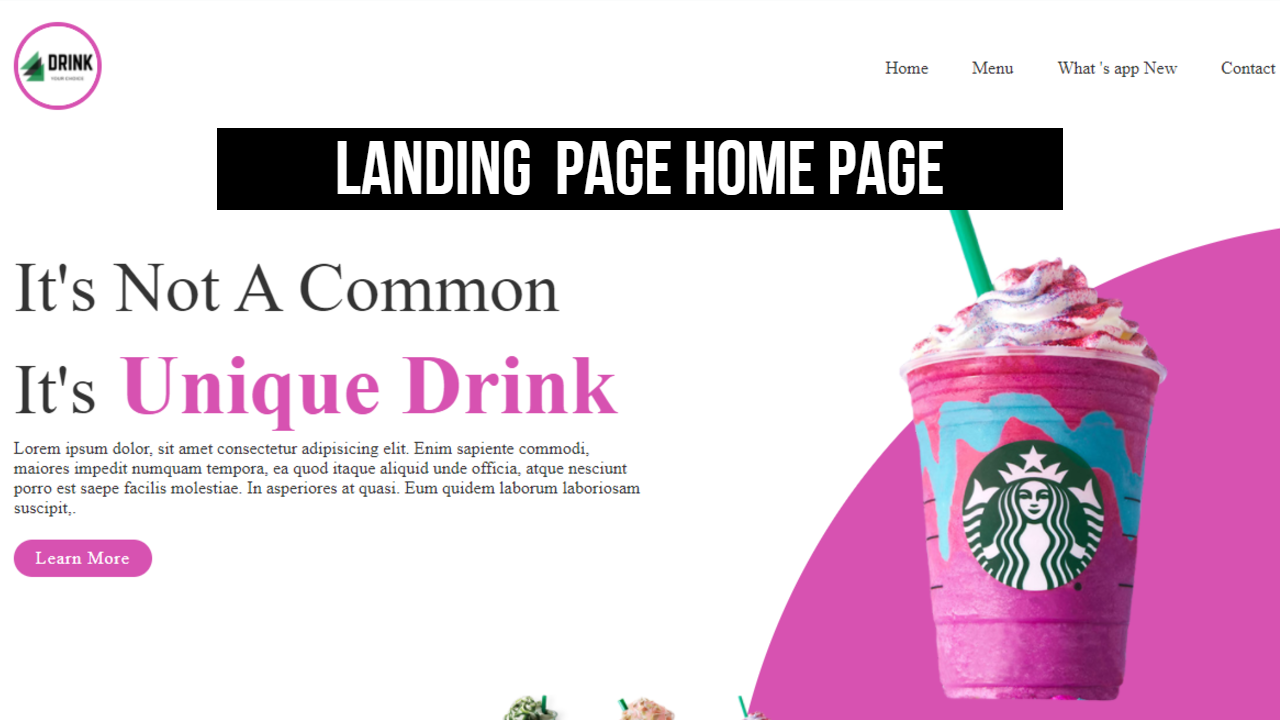 Landing Page Or Home Page Make Pure html Css