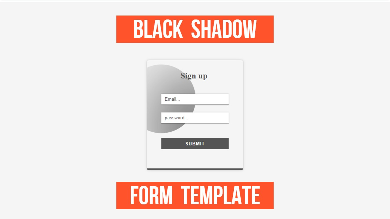 light-grey and black-shadow form for beautifyl websites