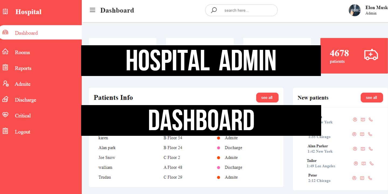 Hostpital management Admin Dashboard