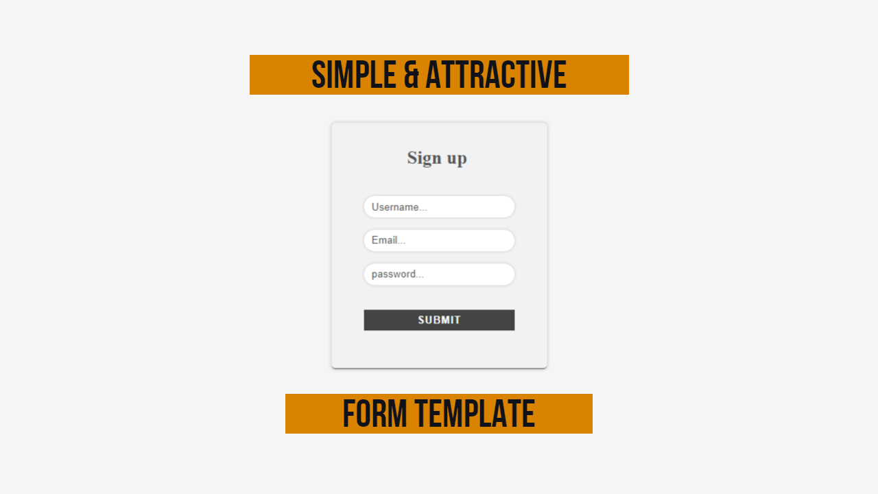 attractive form template for Any Kind Of Html Website