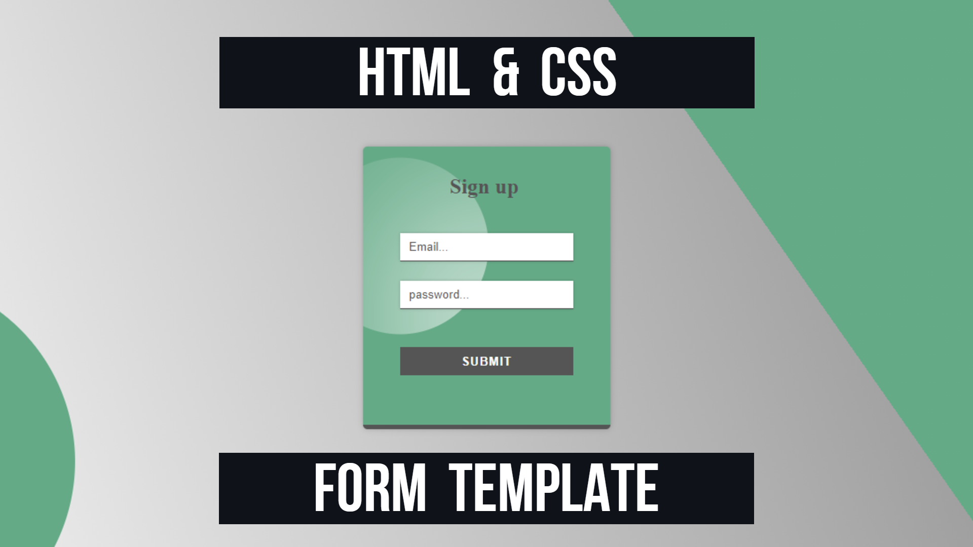 Html & Css Simple Form Template