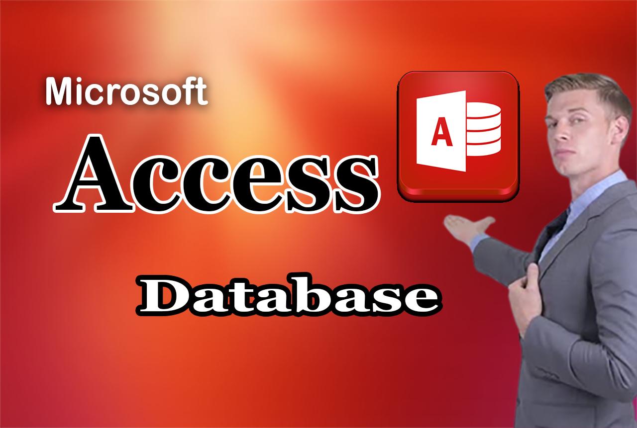 I will do any job on microsoft access databases