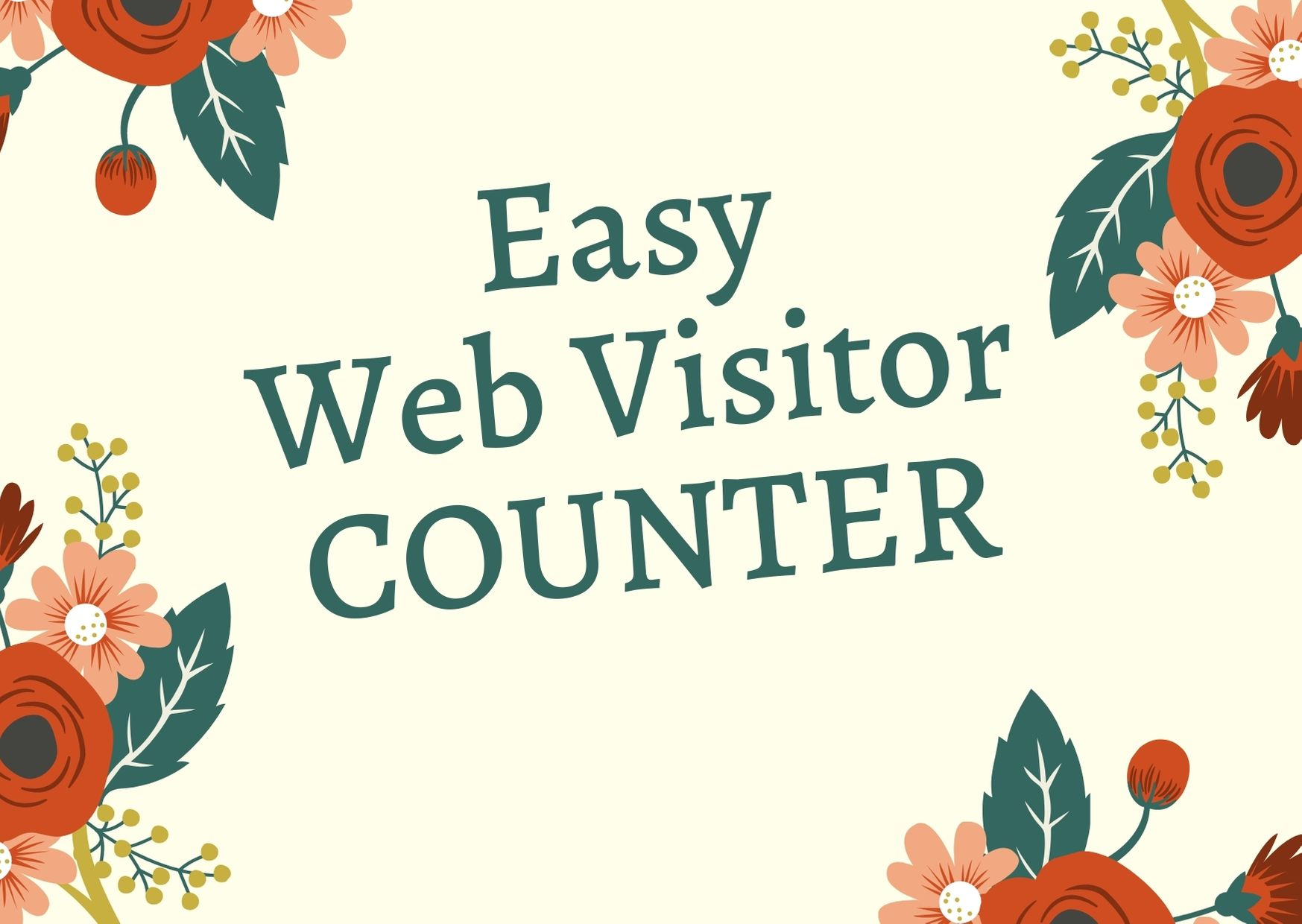 Web Visitor Counter - Discover Exactly how many peoples visit your webpage