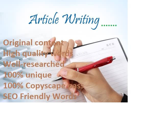 I will you provide you with 500 + words article for your blog and website