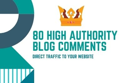 provide 80 high quality Blog Comment Backlinks with high DA PA