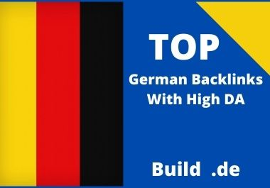 provide 30 German domain authority high quality dofollow SEO backlinks