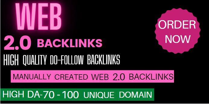 I will do best web 2 0 backlinks manually