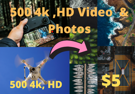 i will give you 500 drone footage video full HD, 4K resolution