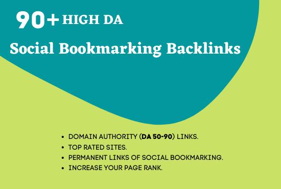 I will create 30 social bookmarking high DA backlinks