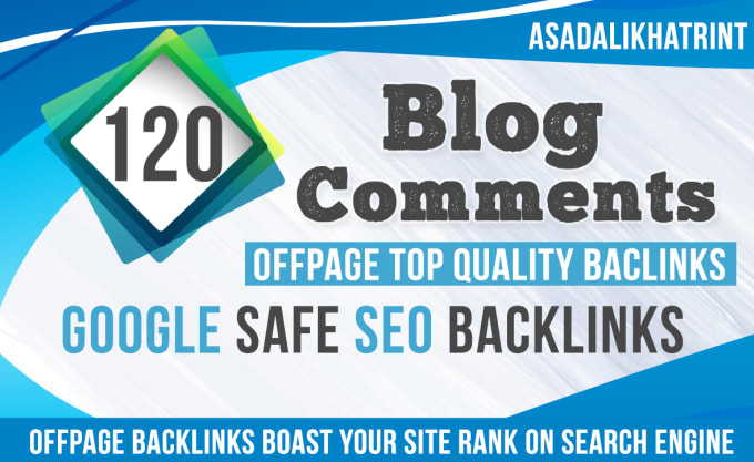 I will submit 120 high authority dofollow blog comment backlinks