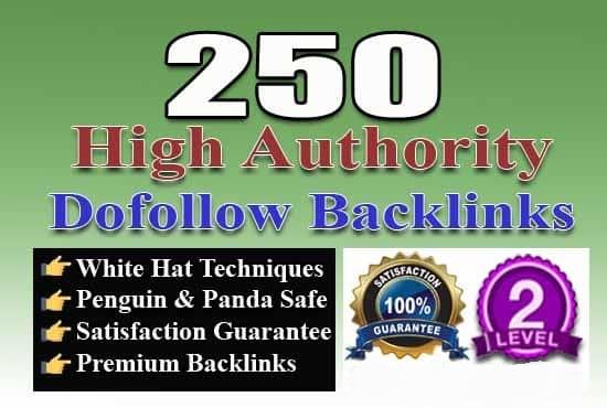 I will do 250 high authority dofollow backlinks for google ranking