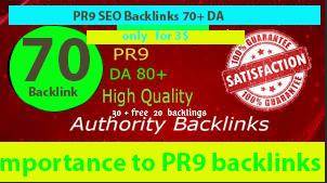 Manually DA80+ALL PR9 45 SEO High Profile Backlinks