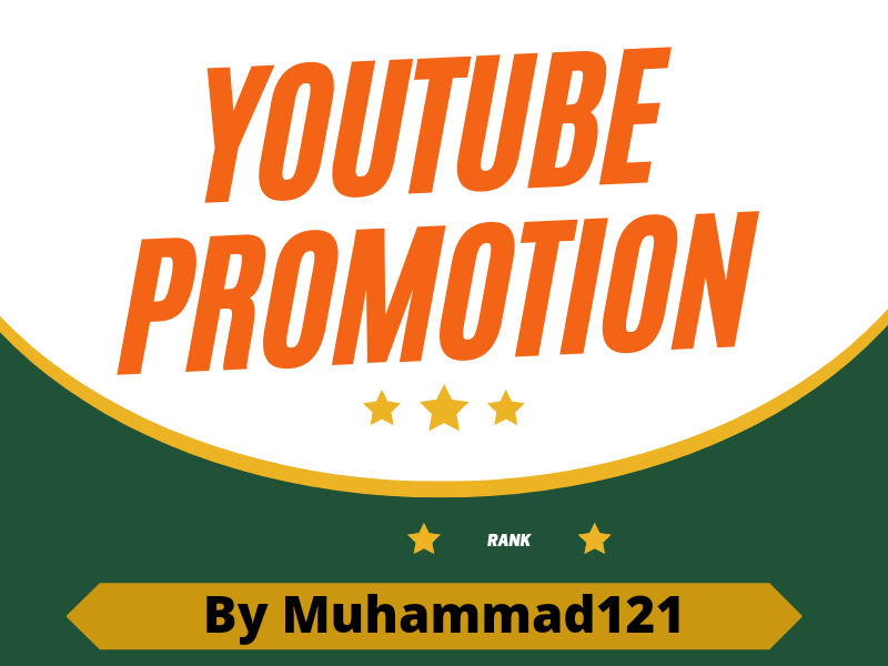 I will do Youtube promotion with rank Fast