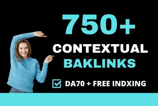 I will do 750+ high quality contextual SEO dofollow backlinks service