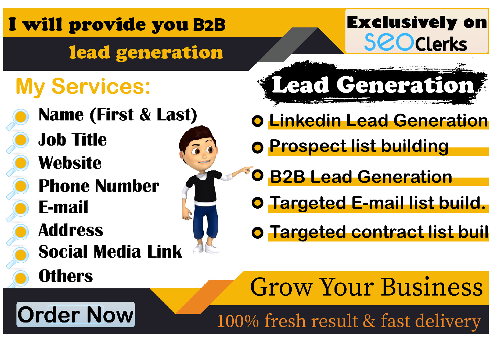 I will provide B2B lead generation and valid information