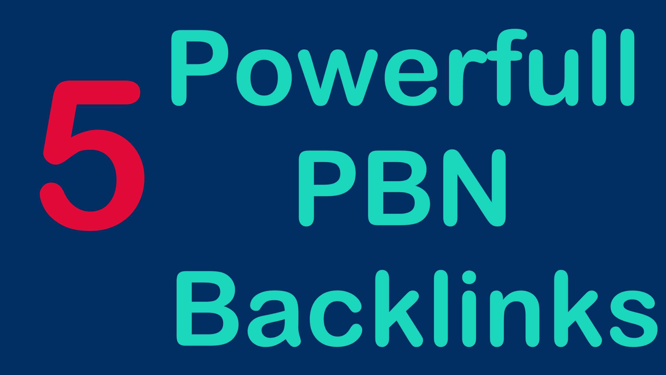 I will Make 5 High Quality DA PA CF TF Homepage PBN backlinks