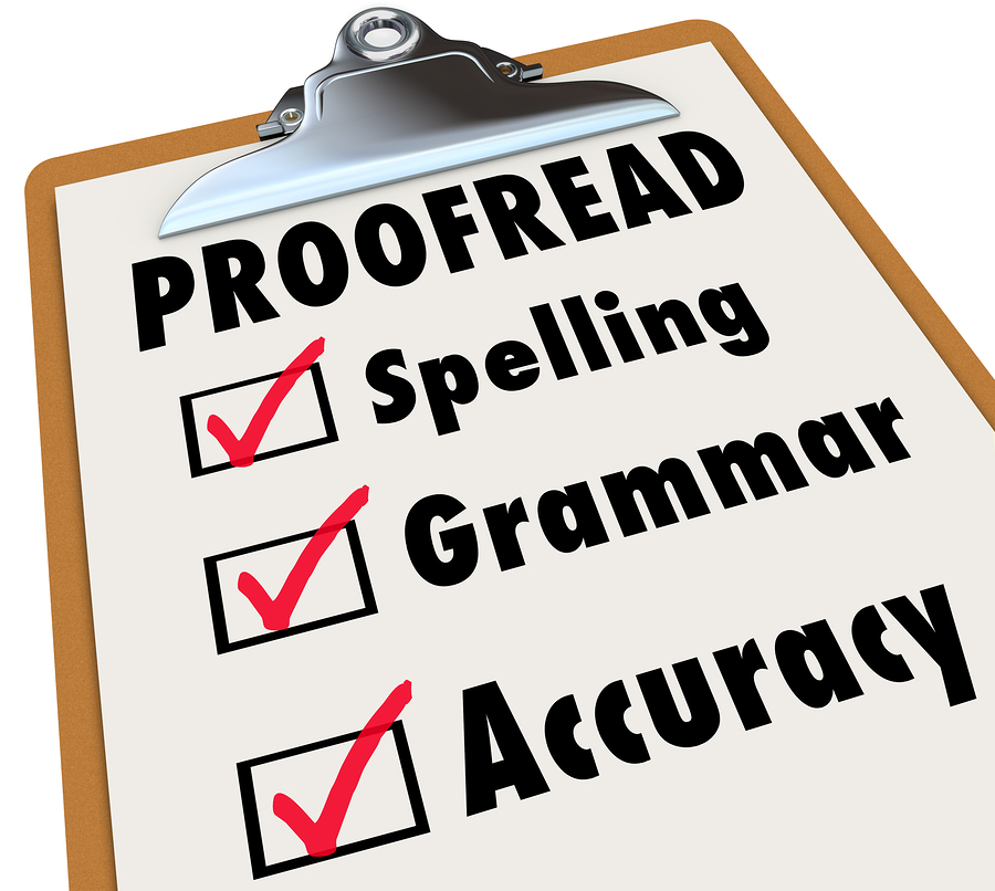 proofreading and paraphrasing your article