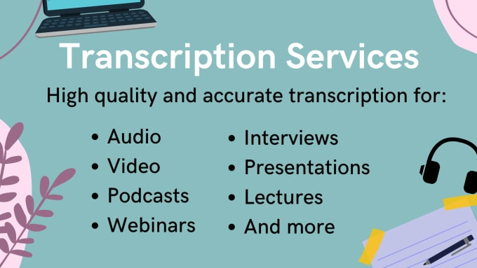 I will transcribe your audio and video transcripts