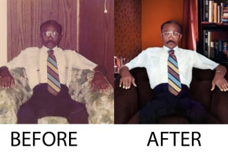 I will restore damaged images,  repair old images
