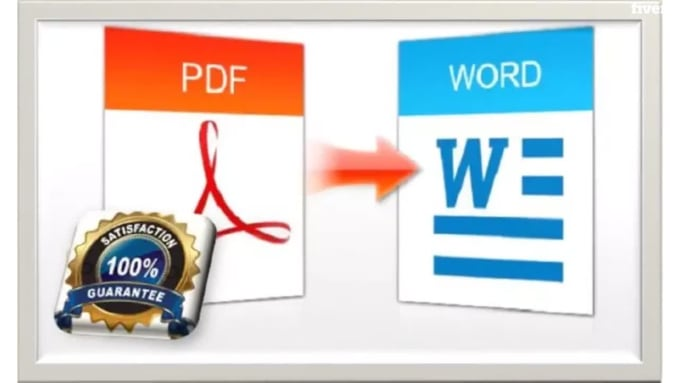 I will convert word to pdf,  pdf to excel