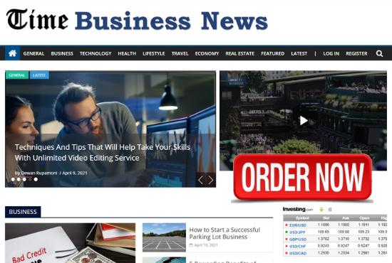 I will Publish Your Content on timebusinessnews