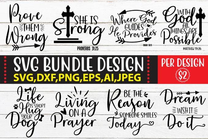 I will provide you svg bundle design with cut files for cricut design