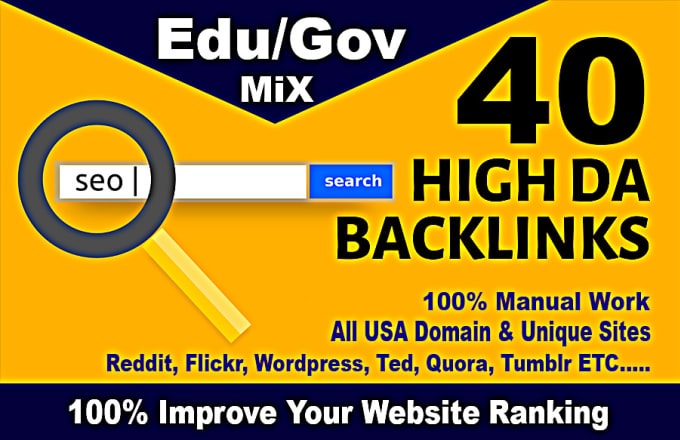 I will created this service top 40 usa pr9, edu dofollow high PA backlinks.