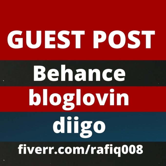 I will do 5 guest post with high quality diigo do follow links.