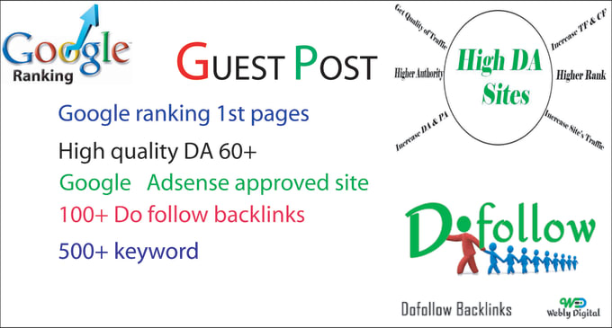I will build dofollow backlinks through manual blogger outreach service guest posting