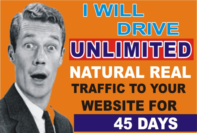 Drive UNLIMITED Real Targeted Website Traffic for 45 Days