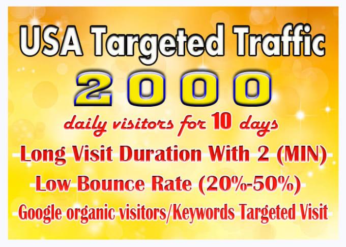 Bring Real Targeted USA Web Traffic