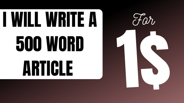 I write 500 words quality article