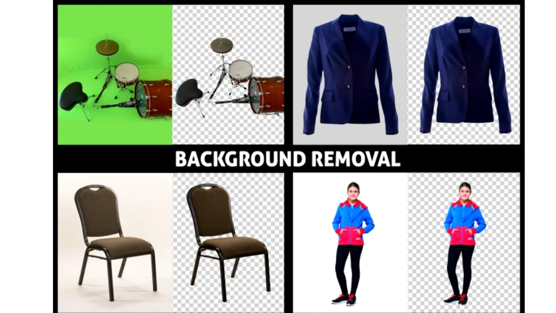 i will remove background and also retouching your image