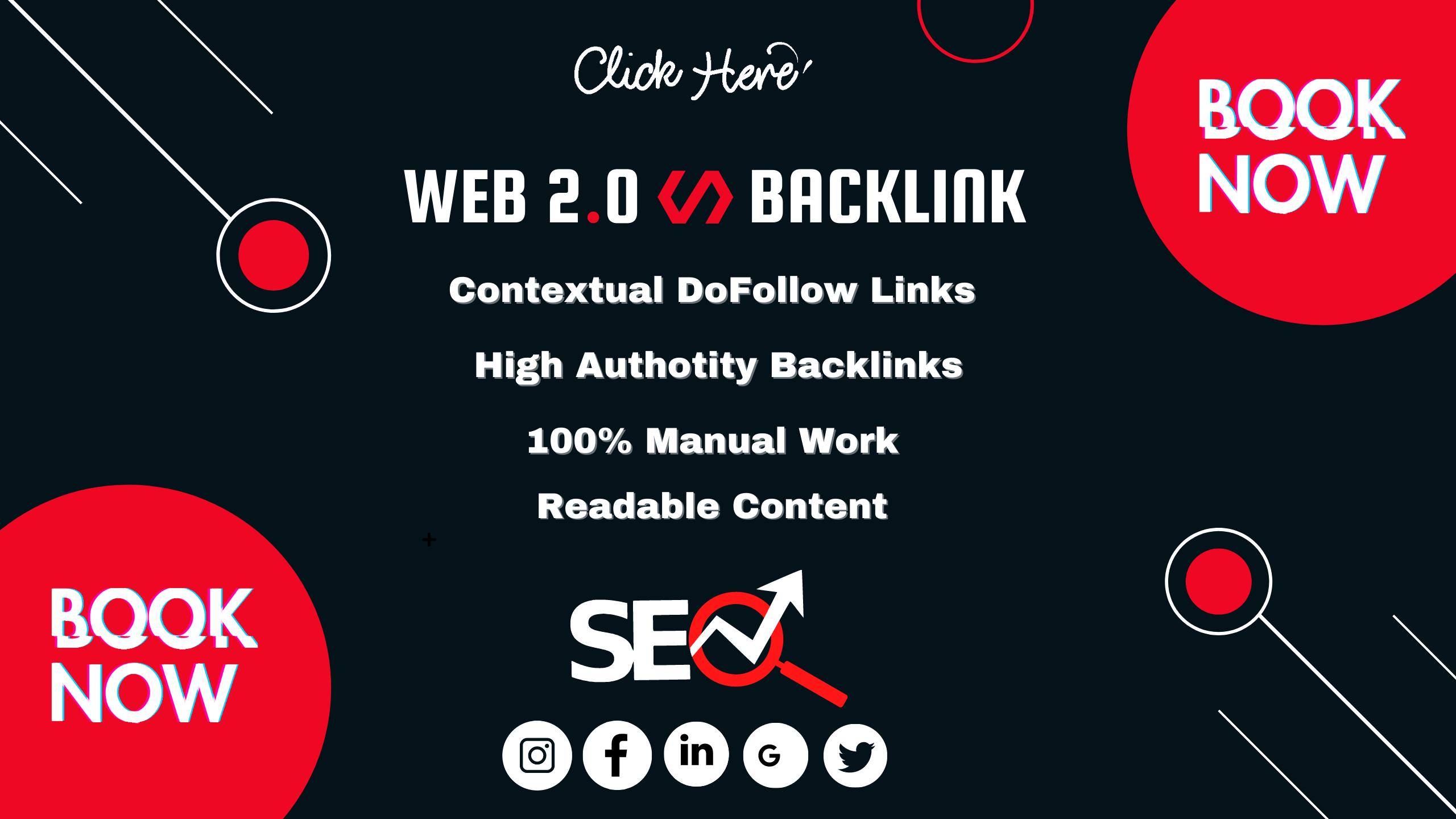 I will manually build high authority web 2.0 backlinks