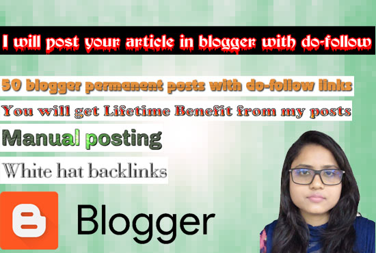 I will post your article in blogger with do-follow