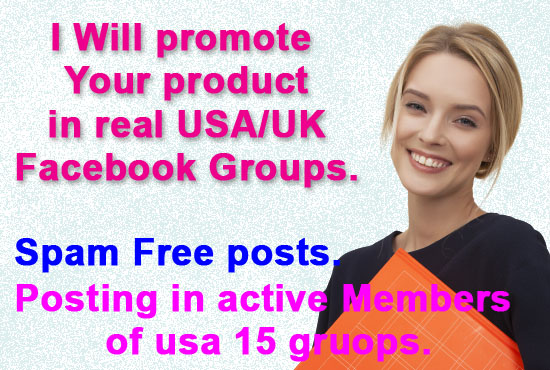 I will promote your products or link in real USA