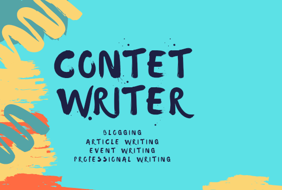 I will write SEO friendly content for blogs,  websites and articles.