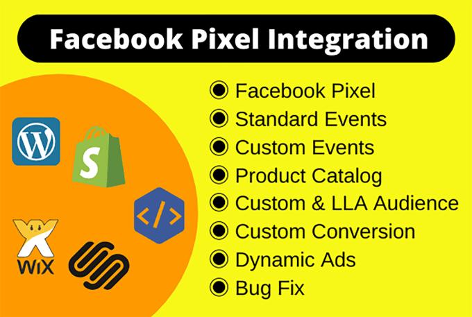 I will fix or setup facebook pixel catalog, custom audience fb